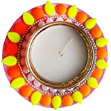 Designer Beautiful Diyas In Neon Colours Pack Of 2