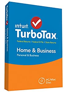 TurboTax Home & Business 2015 Federal + State Taxes + Fed Efile Tax Preparation Software - PC/MacDisc