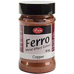 Viva Decor 3-Ounce Ferro Metal Effect Textured Paint, Copper