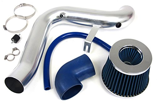 95-02 Chevy Cavalier 2.4L Polish Cold Air Intake Kit + Blue Filter 99 00 01 front-375994