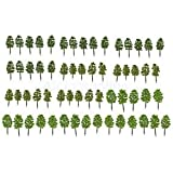 60pcs Model Trees Train Street Railway Layout Diorama Wargame 1:150 Scale