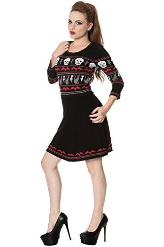 Banned All Hallows abito in maglia - Black / S