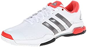adidas Performance Men's Barricade Team 4 Tennis Shoe, FTW White/Iron/Red, 9 M US