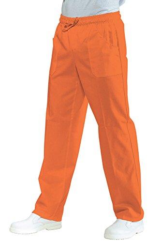 Isacco sanitario congiunto?-Pantaloni taglia elasticizzata Ocre corallo ecru S
