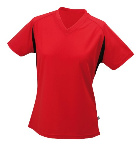 James & Nicholson Women's Running T-shirt - Red, M
