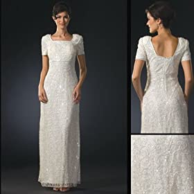 Short Sleeves Wedding Dress 4