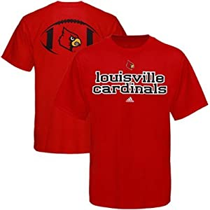 Buy Adidas Louisville Cardinals Backfield T-Shirt - Red by adidas
