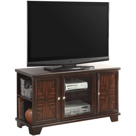 Austin Tv Stand Cherry 4 Open Comparments Shelves