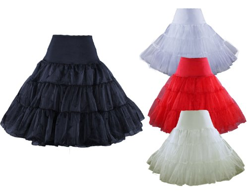 50s VINTAGE ROCKABILLY NET PETTICOAT SKIRT,25″ Length