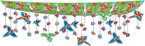 Beistle 50336 Flowers and Birds Ceiling Decor, 12-Inch by 12-Feet (Parrot Party Supplies compare prices)