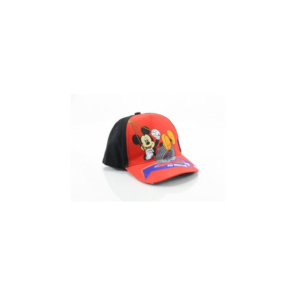 Disney Mickey Mouse Boys Red Baseball Cap Hat