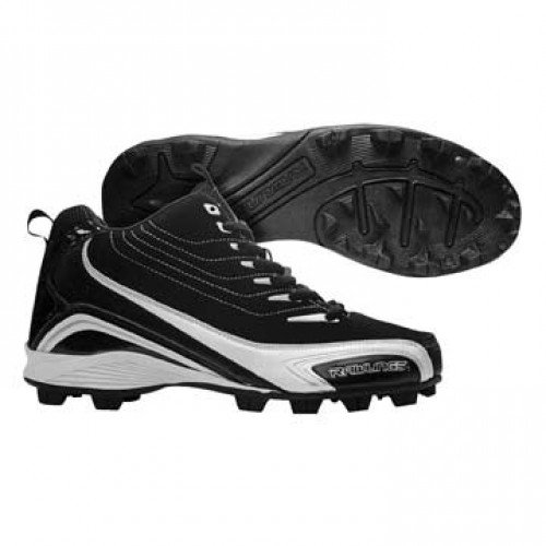 "Rawlings New 2014 ""Mid Top"" High Baseball Cleats Lightweight Durable, Superior Traction (12 Junior/Adult Sizes)"