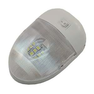 LED 12 volt Single Pancake Light with SMD 16 Warm White LEDs