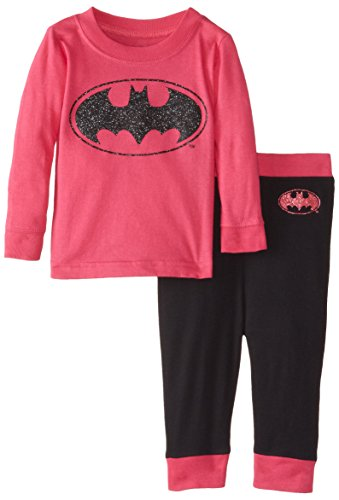 DC Comics Baby Girls' Batgirl Glitter Logo 2 Piece Infant