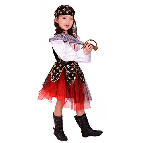 Deguisement enfant costume halloween fille robe pirate des - Deguisement halloween enfant fille ...