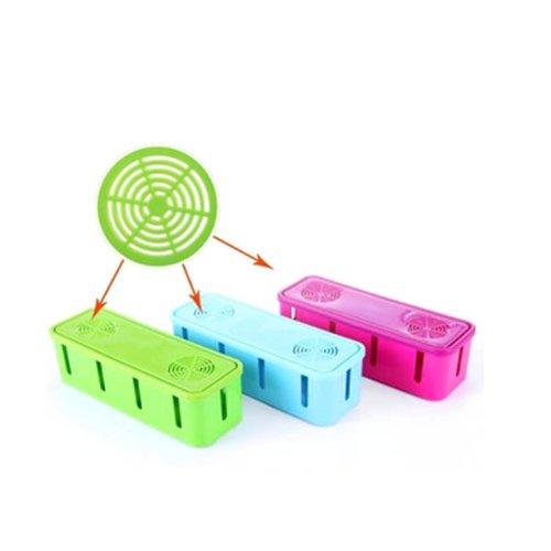 HuaYang Nouveau sortie boîte de rangement/fil boîte de rangement/prise boîte de rangement(jaune)