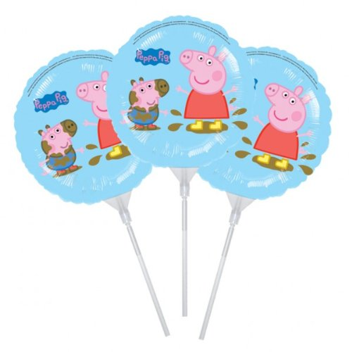 Peppa Pig EZ-Fill Foil Balloons, pack of 3, 9ins/23