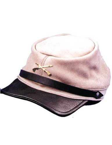 Costume-Accessory Civil War Cap Quality Grey Halloween Costume Item - 1 size