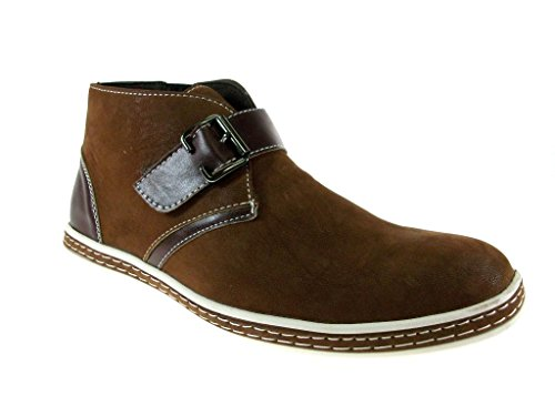 Rocus Men'S Xh-B3 Monkstrap Suedette Boots, Brown, 11