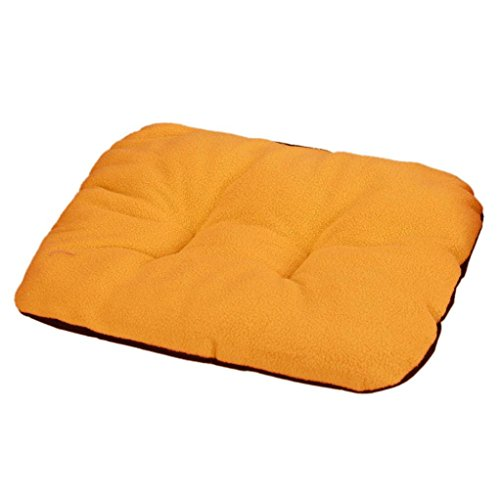 Perman Puppy Blanket Pet Carpet Cushion Dog Cat Cotton Bed Soft Warm Sleep Mat (Orange )