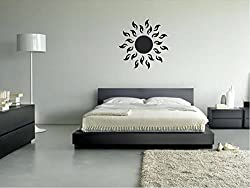 Asmi collection PVC Wall Stickers Black Wall Clock Design