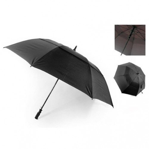 Deluxe Double Canopy, Automatic, Wind Resistant Golf Umbrella (Fibre Glass Shaft)