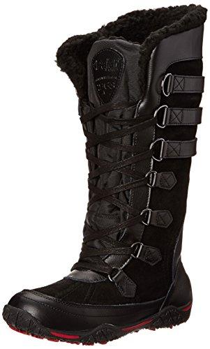 Pajar AVENTURE, Stivali da neve, gamba lunga, imbottitura calda donna, Nero (Nero (Black 001)), 37