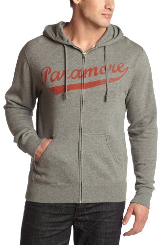 Old Glory Mens Paramore - Baseball Zip Hoodie - Small Heather Grey