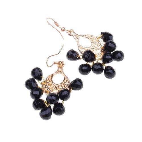 BestDealUSA Gold Fishhook Style Earring Faux Pearl Dangle Earring Fashion Gift Earring