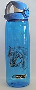 Nalgene 'Everyday OTF' - 0,7 L, blau, Motiv Pferd, Deckel blau-weiss