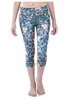 WITH Women's Capris Cactus Flower Power