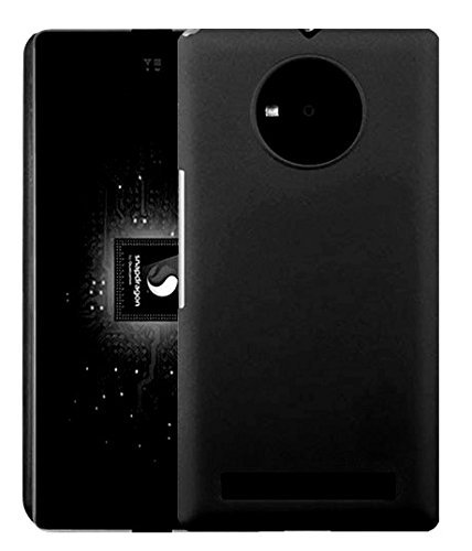 SDO Luxury Matte Finish Rubberised Slim Hard Case Back Cover for Micromax YU Yuphoria - Black with Clear Screen Guard