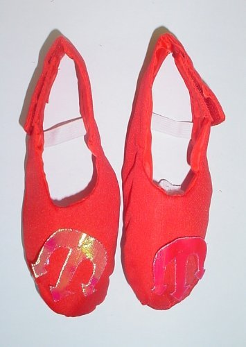 Red Devil Fancy Dress Childrens Shoe Covers - 21cm From Front To Back [Toy]