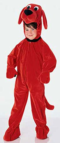 Girls - Clifford Big Red Dog Ch Halloween Costume - Child Small