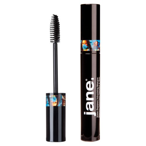 Jane Cosmetics Water-Resistant Volumizing Mascara, Black, 480 Ounce