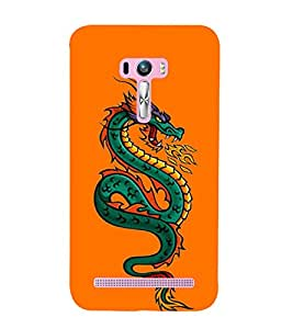 Dragon 3D Hard Polycarbonate Designer Back Case Cover for Asus Zenfone Selfie ZD551KL