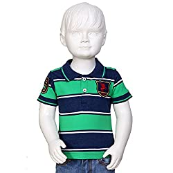 Tales & Stories Parrot Green Polo With Badges
