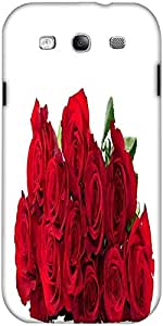 Snoogg Red Roses Designer Protective Back Case Cover For Samsung Galaxy S3