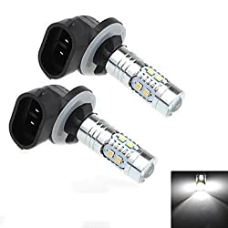 See 2Pcs 880 / 881 5W 10x2323 SMD 800lm 6000K White Light LED for Car Turn Steering Lamp (DC 12-25V) Details