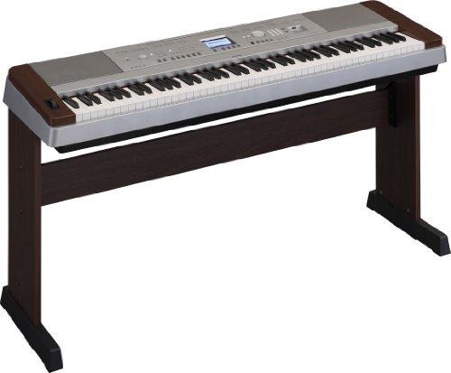 Yamaha DGX640W Piano numérique compact 88 touches GHS Finition Argent/Noyer