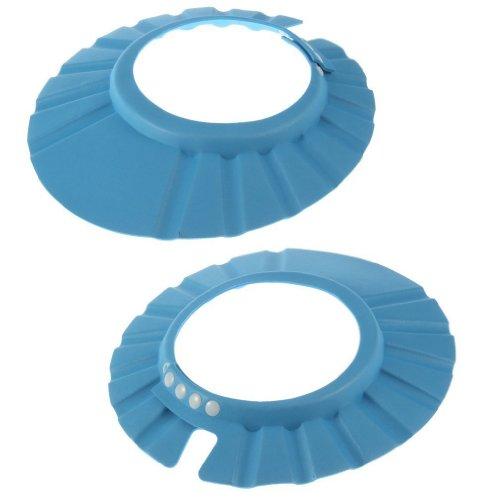 Yks 2Pcs Adjustable Soft Baby Kids Child Children Shampoo Bath Shower Wash Hair Waterproof Eye Shield Cap Hat Shield Sun Cap Tub Bathtub Visor For Toddler (Blue.) front-20562