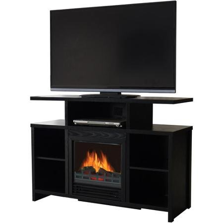 "Decor Flame Media Electric Fireplace for TVs up to 37"", Black"