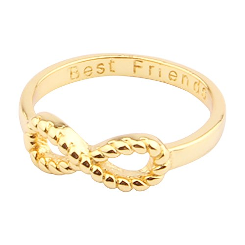 L.Store (R) Plated Bowknot Infinity Finger Ring with