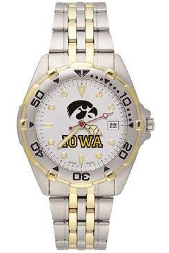 Iowa Hawkeyes Men'S All Star Watch Stainless Steel Bracelet
