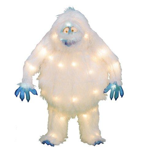 "18"" Pre-Lit Soft Tinsel 3D Bumble Snowman Christmas Yard Sculpture - Clear front-770122"