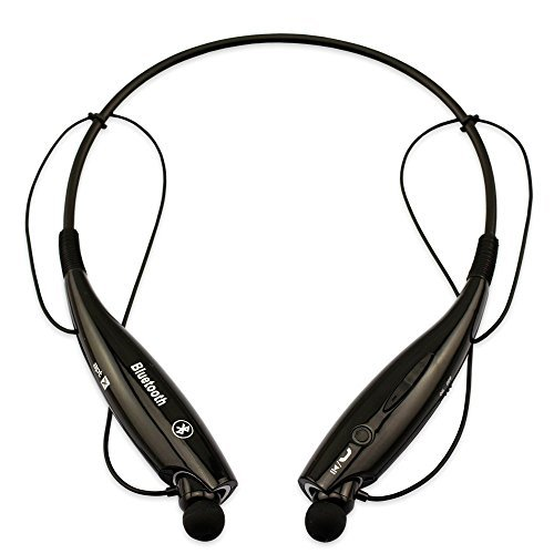 HV-800 Wireless Neckband Headset – Bluetooth v4.0 with Memory Flex Neckband Design (Black)