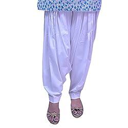 Jehal women's cotton Patiala salwar (white_Free size)