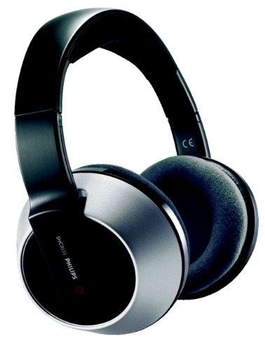 Philips Gmbh - Cav Philips Shc 8525 Wireless Hi Fi Headphone With Charging Station (Rechargeable, Double Pll, Super Silence Technology) Black-Silver