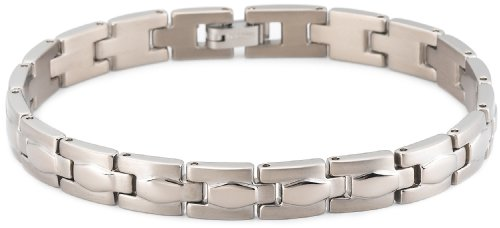 Brushed and Polished Titanium 8mm Bracelet, 8″