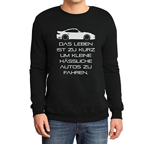 das-leben-ist-zu-kurz-um-kleine-hassliche-autos-zu-fahren-sweatshirt-x-large-schwarz